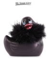 Mini canard vibrant Duckie Paris - noir